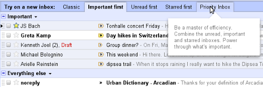 New Gmail Sorting
